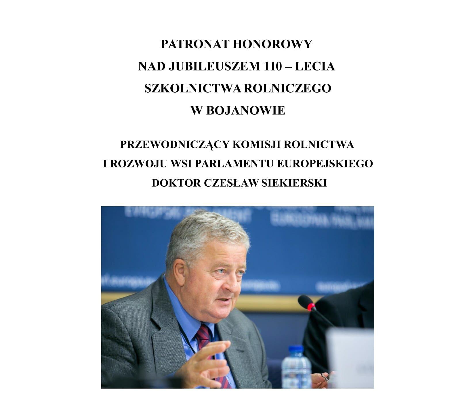 PATRONAT HONOROWY - CZESŁAW SIEKIERSKI-1 - Kopia_crop